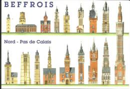 Patrimoine Mondial De L'UNESCO - Beffrois Du Nord Pas De Calais (illustration) - Nord-Pas-de-Calais