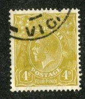 7663x   Australia 1929  Scott #73   (o) Offers Welcome! - 1913-36 George V: Heads