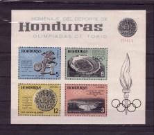 HONDURAS1965 Tokyo Olympic Games Block Imperforated  Yvert Cat. N° 8 MNH ** - Honduras