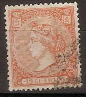 España U 0082 (o) Isabel II. 1866. Foto Exacta - Usati