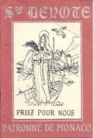 MONACO  -  1970 - SAINTE DEVOTE Patronne De Monaco, Par J. & D. LORENZI, M. SCOTTO - Livres, BD, Revues