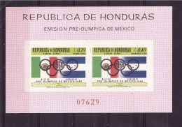 HONDURAS1968 Olympic Games Block IMPERFORATED  Yvert Cat. N° Absolutely Perfect MNH ** - Honduras
