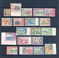 DOMINICA SG 140-58 1954 1ST Q E II DEFINITVE SET MNH - Dominica (1978-...)