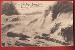 TAD1-12 Congo Belge Chutes De La Pozo Près Stanleyville. Circulé En 1916 Vers Paris - Congo Belge - Autres