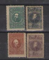 1898 Cataluña Cuatro Sellos,nuevo        #662 - Nationalistische Uitgaves
