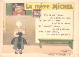 10 Cartes Anno 1900 PUB RICQLES Chromos Superbe Litho - Enfants Chansons Musique GERBAULT - Collections
