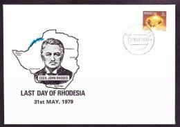 Rhodesia - 1979 - Last Day Of Rhodesia, Cecil John Rhodes, Minerals - On Last Day Cover - Rhodésie (1964-1980)