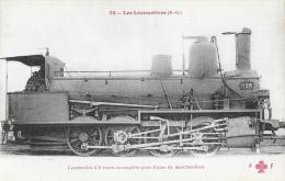 Les Locomotives - Locomotive à 8 Roues Accouplées Pour Train De Marchandises - Type 1126 - Collection F.F. - Trains