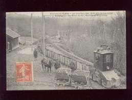 61 Le Chatellier St Clair De Halouze Exploitation Des Mines De Fer Machine Wagonnets édit. Jeanne D'arc , Animée Train - Altri Comuni