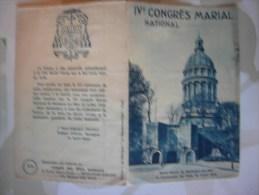 Carnet De 12 Vignette Congrès Marial 1938 à Boulogne Sur Mer - Erinnophilie