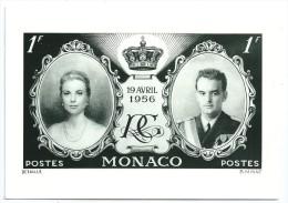 Cpsm:  MONACO  Timbre Poste  19 Avril 1956 - Monaco