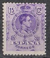 Sello 15 Cts Alfonso XIII Medallon 1909, Num 270 * - Nuevos
