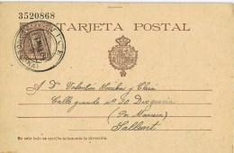 9094. Entero Postal VICH (Barcelona) 1904, Cadete 10 Cts - 1850-1931