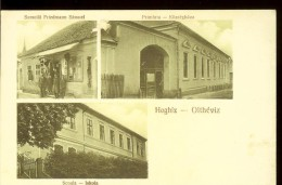 Romania,  Postcard, Hoghiz, Multiple Views, School, Mayoralty, Samoila Friedman Store, Judaica, Unused, Small Defect On - Postal Stationery