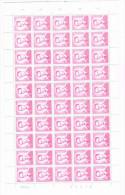 Nr.1069P3 volledig vel van 50 -feuillet complet de 50