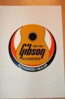 Vintage 80-81 Music Gibson Acoustics Decal Sticker - Autocollants