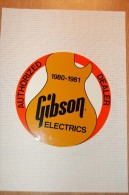 Vintage 80-81music Gibson Electrics Sticker Decal - Autocollants