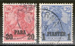 LEVANT (bureaux Allemands): N°24+25 Oblitérés  - Cote 40€ - - Offices: Turkish Empire