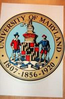 Vintage 70/80's University Of Maryland Sticker Decal - Autocollants
