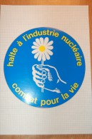 Vintage 70/80's Anti-nucléaire Sticker Decal - Autocollants