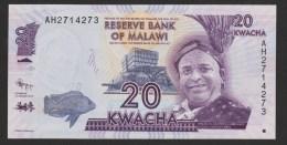 MALAWI 20 Kwacha  01.01.2012  ( Domasi ERROR )  UNC - Malawi