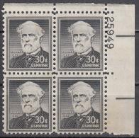 United States    Scott No   1049    Mnh    Year  1954      Plate No. Block - Neufs