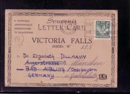 Bedarfspost Lettercard Victoria Falls V. 24.4.1952    Northern Rhodesia - Simbabwe