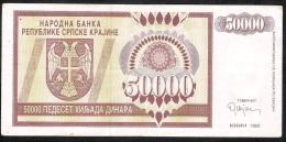 SERBIA KRAJINA   PR8  50.000 DINARA   1993 #AA    VF - Serbia