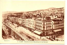 CPA - ALGER - 4 - BOULEVARD DE LA REPUBLIQUE ET LES RAMPES -  A. F. - Algiers