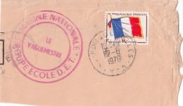 Fragment De Lettre Avec Timbre FM Marine Nationale - Franchise Stamps