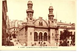 CPA - ALGER - LA CATHEDRALE ET LE PALAIS D'HIVER DU GOUVERNEUR - 8 -  A. F. - Algiers