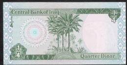 IRAQ  P67 1/4   DINAR    1979    UNC. - Iraq