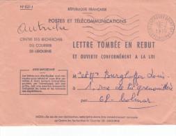 Lettre Tombée En Rebut Ouverte à Libourne - Postmark Collection (Covers)