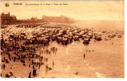 Oostende Vue Panoramique De La Plage A L'heure Des Bains - Oostende