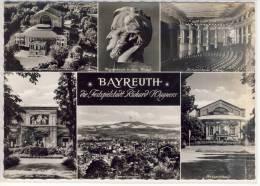BAYREUTH - Festspielstadt Richard Wagner's - Mehrbildkarte, Festspielhaus Innen, Villa Wahnfried .... - Bayreuth