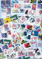 100 Gram NIEDERLANDE ZUSCHLAGMARKEN Auf Papier * Timbres SURTAX PAYS-BAS Sur Petit Morceau De Papier * TOESLAGZEGELS - Lots & Kiloware (mixtures) - Max. 999 Stamps