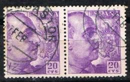 Par 20 Cts Caudillo 1948, Fechador EL GASTOR (cadiz) Num 1047 º - 1931-Today: 2nd Rep - ... Juan Carlos I