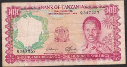 TANZANIA   P5b   100  SHILLINGS   1966     FINE & Writtings - Tanzania