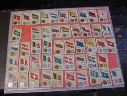 48 Chromos Nrs 1-50 - Cocoline, Usines J.E.De Bruyn, Termonde Dendermonde,  Cond. PRIMA Flag Money & Coin, Backside Map - Other