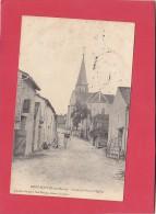 CPA -  RENNEPONT - La Grande Rue Et L'église - France