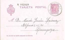 Entero Postal PITILLAS (Navarra) 1929. Alfonso XIII Vaquer - Entiers Postaux