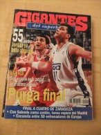 GIGANTES DEL SUPERBASKET, 492, 10-04-1995. ARVYDAS SABONIS. REAL MADRID. - Revistas & Periódicos