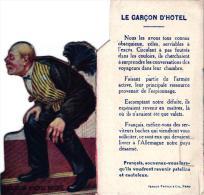 Politiek Satire GEEN Postkaart ( Pas Carte Postale) Vouwt Open  Carte Système  Pliante  Garçon D' Hôtel Boche  Spionnage - Satiriques