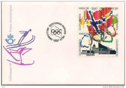 Norge 1994 Olympics Lillehammer, Flags  Mi 1145-1148 FDC - FDC