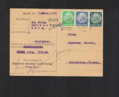 Dt. Reich PK 1934 Stempel Gera Gebt Zur Winterhilfe - Briefe U. Dokumente