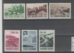 Bel Mi.Nr. 967-72/   BELGIEN - Tourismus  1953 **  MNH - Ongebruikt