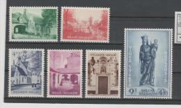 Bel Mi.Nr. 995-1000/ BELGIEN -  Klosterrenovierung   1954 **  MNH - Ongebruikt