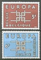 Belgium**EUROPA CEPT 1963-2vals-MNH-Belgique-Belgien-Belgie - Belgium