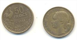 FRANCIA  50 FRANCHI  ANNO 1951 - M. 50 Franchi