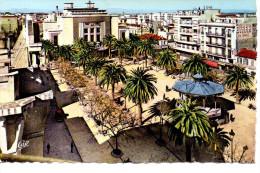CP - PHOTO - SIDI BEL ABBES - PLACE CARNOT ET LE THEATRE - 78 - C. A. P. - Sidi-bel-Abbès